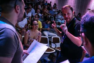 Más de 150 personas con discapacidad intelectual asisten al taller de cine de Josevi García Herrero