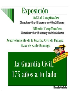 Inauguración exposición ''La Guardia Civil, 175 años a tu lado''