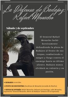 La Defensa de Badajoz: Rafael Menacho. Visita guiada día 7 de septiembre