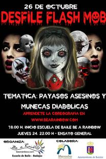 Este sábado más de 400 personas disfrazadas y caracterizadas desfilarán por Menacho en un FLASH MOB de Halloween