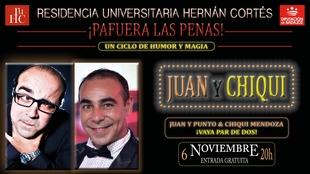 Chiqui Mendoza y Juan y Punto ofrecen el espectáculo ''Pa fuera las penas''