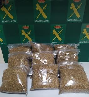 Intervenidos en Badajoz, 9 kilos de picadura de tabaco que tenían como destino la fabricación casera de cigarrillos y su venta clandestina