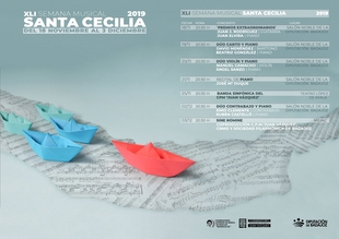 La XLI Semana Musical de Santa Cecilia de los conservatorios de la Diputación programa siete conciertos hasta el 3 de diciembre