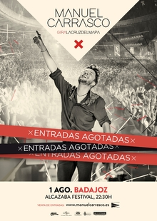 Manuel Carrasco agota las entradas para su concierto del Alcazaba Festival 2020