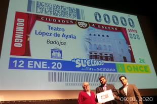 El Teatro López de Ayala sube el telón al cupón de la ONCE