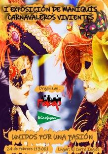 El Corte Inglés de Badajoz acoge la I exposición de maniquís carnavaleros vivientes