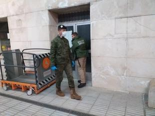 Un total de 35 efectivos de la Unidad Militar de Emergencias se despliega en Badajoz
