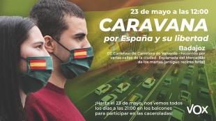Badajoz acogerá una ''manifestación Caravana'' por España y su libertad
