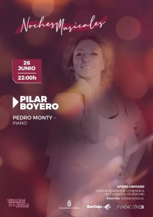 Pilar Boyero y Pedro Monty ofrecerán el primer concierto de