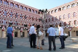 El director general de Arquitectura destaca que la restauración de la fachada de las Casas Coloradas es un ejemplo de 'regeneración urbana'