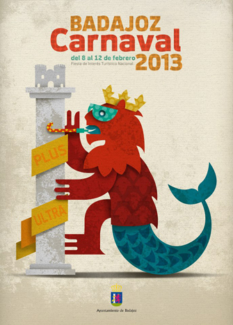 Cartel Oficial del Carnaval de Badajoz 2013
