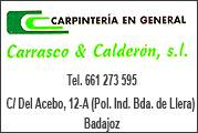 CARPINTER�A CARRASCO Y CALDER�N