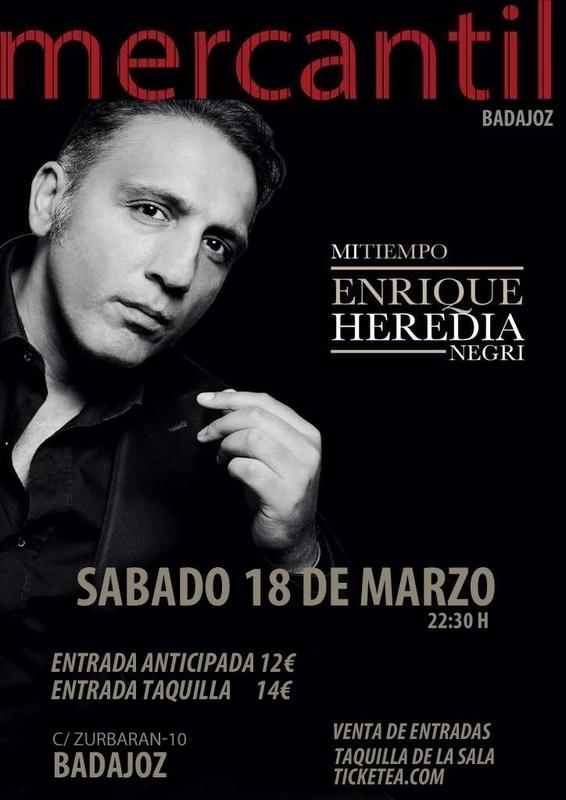 Enrique Heredia Negri presenta su primer disco en solitario Mi tiempo en la Sala Mercantil de Badajoz