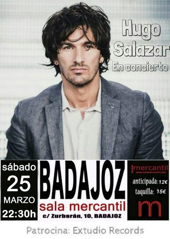 El cantante sevillano Hugo Salazar presentará en Badajoz su nuevo single