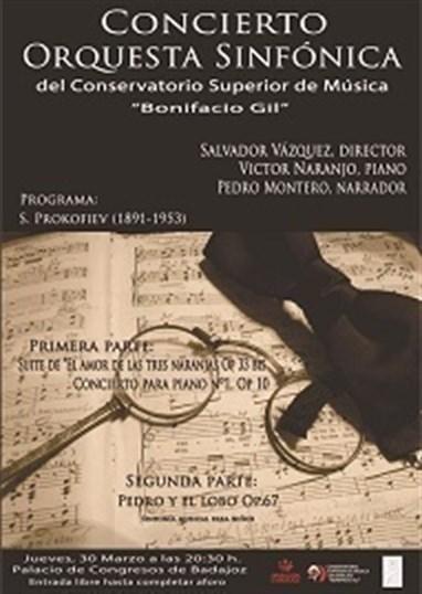 La Orquesta Sinfónica del Conservatorio 'Bonifacio Gil' de Badajoz ofrece un concierto en la capital pacense