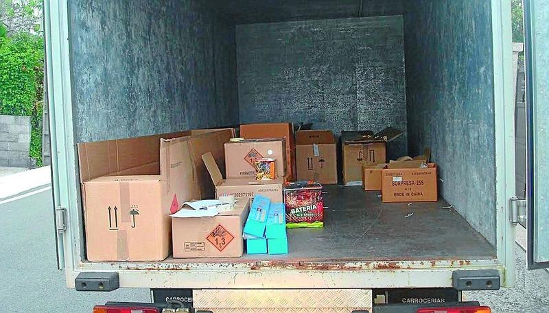 Interceptado en Badajoz un camión no acondicionado con 850 kilos de productos precocinados
