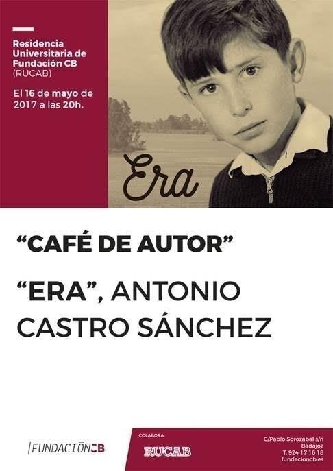 El escritor Antonio Castro Sánchez es el nuevo protagonista del 'Café de autor' de la Fundación CB
