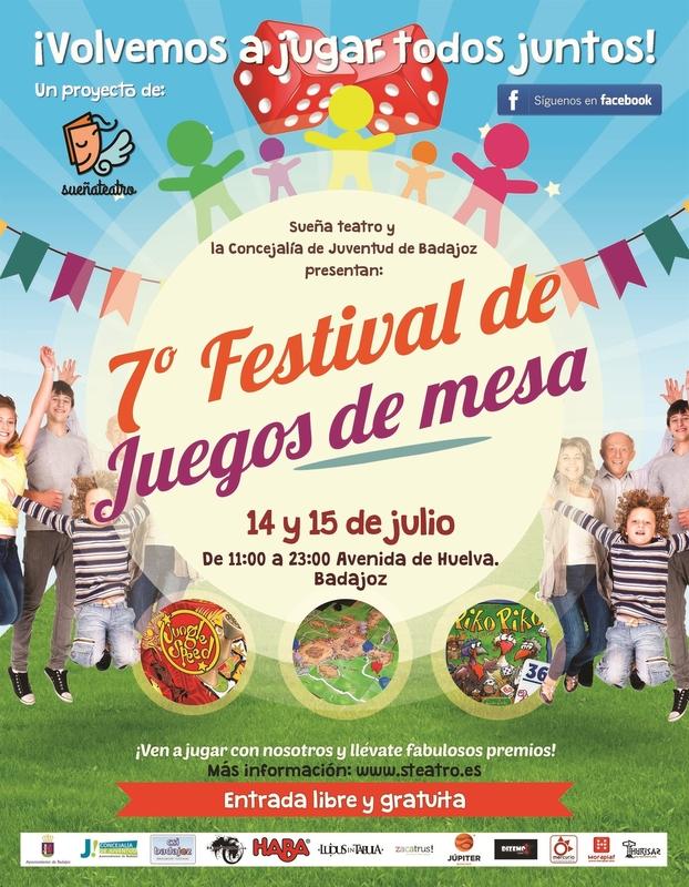 El VII Festival de Juegos de Mesa se celebrará en Badajoz los días 14 y 15 de julio con actividades para toda la familia