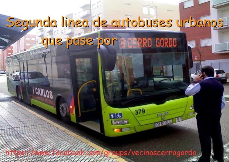 Vecinos de Cerro Gordo quieren una segunda línea de autobús urbano que pase por el barrio