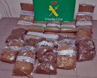 Intervenidos en Badajoz 20 kilos de tabaco destinado a la fabricación y venta clandestina de cigarrillos