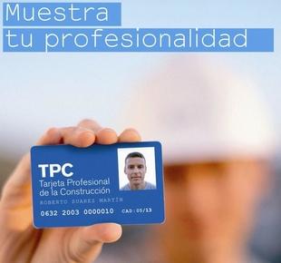 Formación y Empleo impartirá cursos para la obtención de la TPC 'Tarjeta profesional de la Construcción'