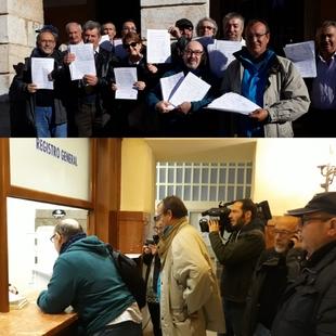 Suerte de Saavedra entrega en el ayuntamiento más de 1.000 firmas pidiendo el cambio de tuberías