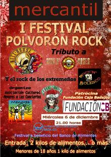 El I Festival Polvorón Rock recaudará alimentos para los más necesitados