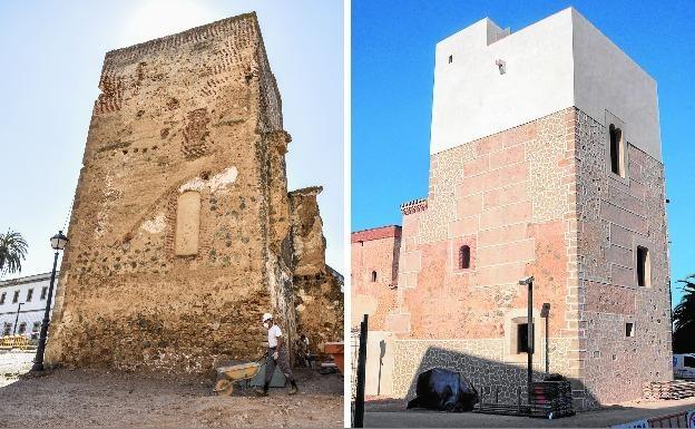 La Torre del Palacio Episcopal de Badajoz abandona la lista roja tras su reforma