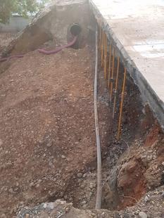 Se rompe una tubería del Puente de la Universidad