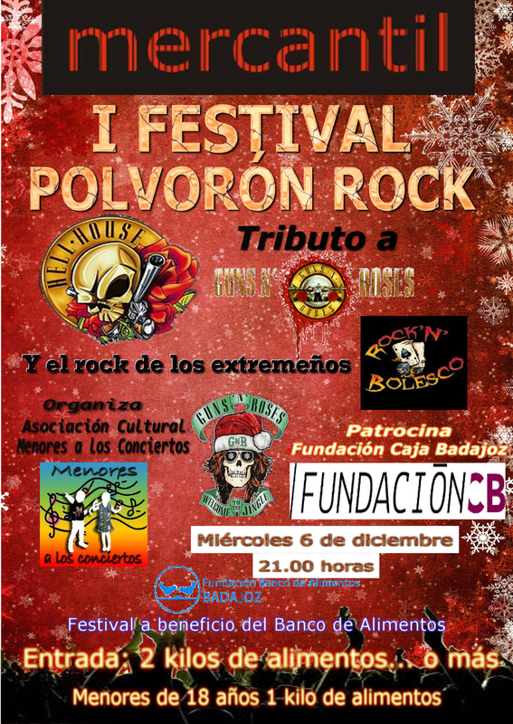 El I Festival Polvorón Rock a beneficio del Banco de Alimentos llega el 6 de diciembre