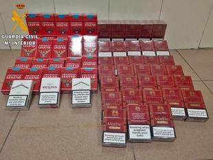 La Guardia Civil interviene en San Fernando un centenar de cajetillas de tabaco de contrabando