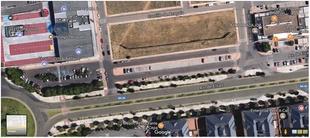 Corte de tráfico del carril derecho de la av. de Elvas