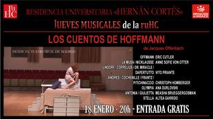 Ópera en la Hernán Cortés con ''Los cuentos de Hoffmann''
