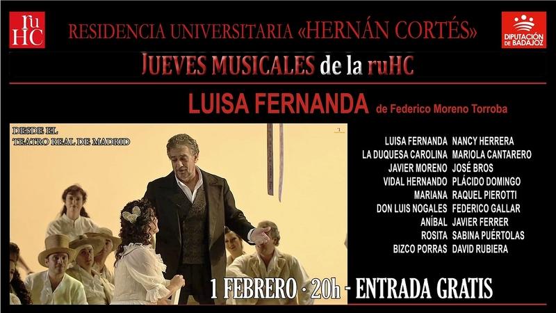 Zarzuela en la R.U. Hernán Cortés con la obra ''Luisa Fernanda''