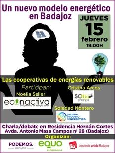 Charla-debate este jueves sobre el modelo energético español