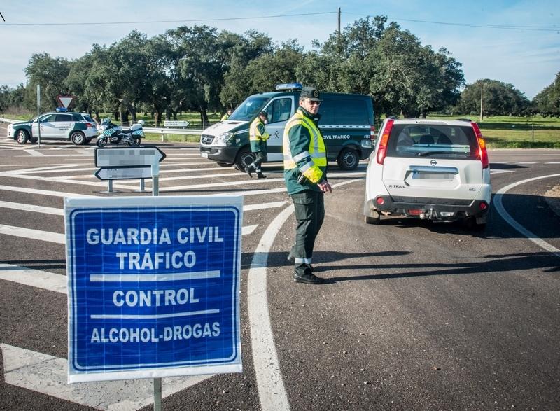 El dispositivo de la Guardia Civil durante el Carnaval sancionó a 50 conductores por positivos en drogas