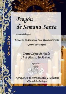 El Teatro López de Ayala acoge dos pregones de la Semana Santa