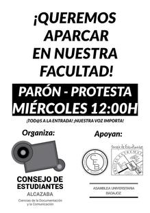 La Facultad de Documentación protesta por las restricciones de aparcamiento en la Alcazaba