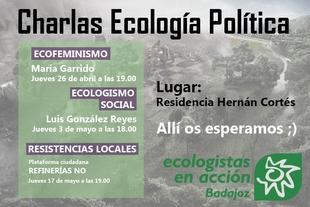 Ecologistas en Acción dará charlas en la R.U. Hernán Cortes