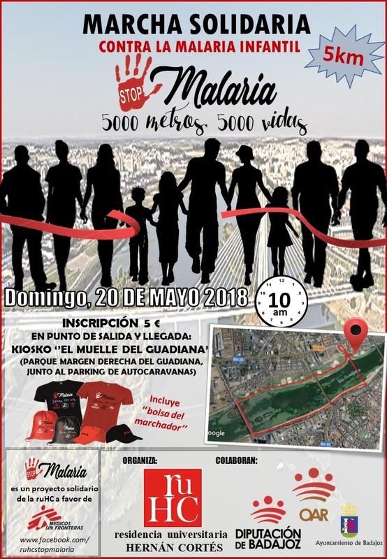 La RUHC organiza una marcha solidaria contra la malaria