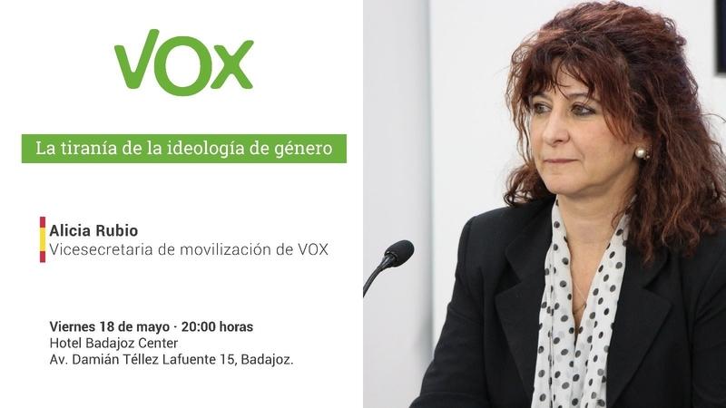 Alicia V. Rubio vuelve a Badajoz para ofrecer una conferencia sobre ideología de género