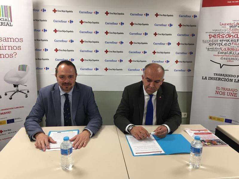 Carrefour y Cruz Roja firman un convenio de colaboración en materia de formación y empleo