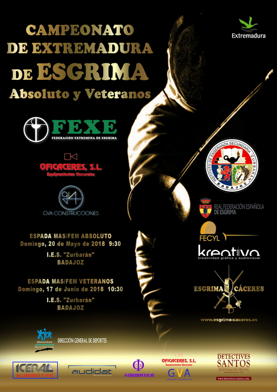 Badajoz acoge por primera vez un Campeonato de Extremadura de Esgrima