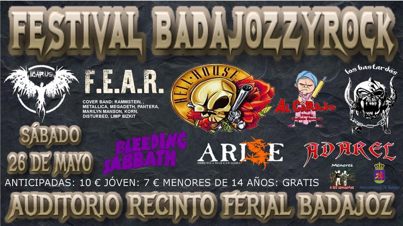 El Auditorio del Recinto Ferial de Badajoz acogerá un festival de rock orientado a la familia