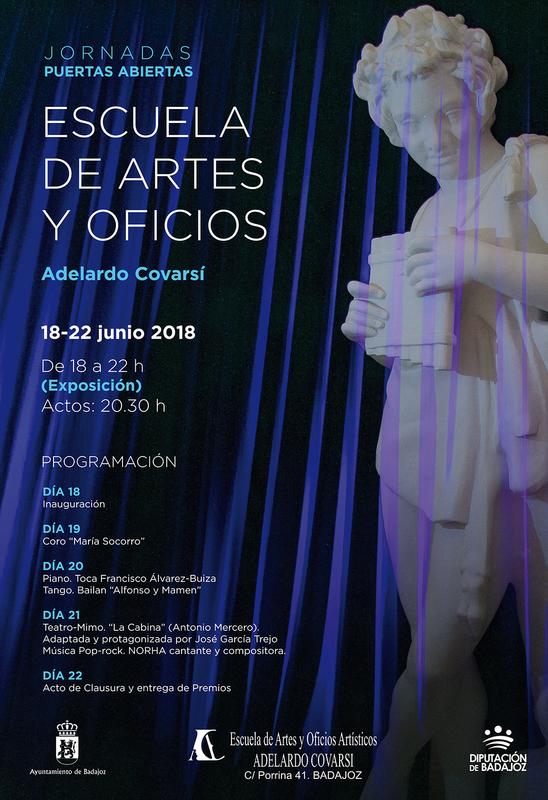 La Escuela de Artes y Oficios 'Adelardo Covarsí' celebra jornadas de puertas abiertas con exposiciones, música, baile y teatro