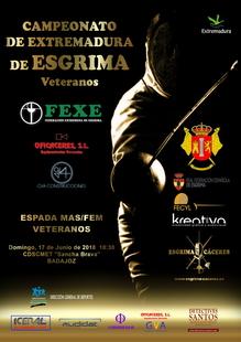 Badajoz acoge el primer campeonato regional de esgrima de Veteranos.