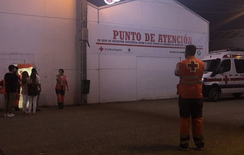 La noche del sábado en la Feria de Badajoz acaba con 33 asistencias 'leves' de Cruz Roja