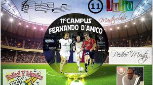 Máster class 'Fútbol y música' en el campus Fernando d´Amico
