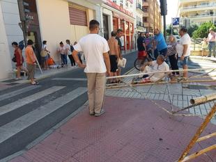Heridos dos obreros en Badajoz tras desplomarse el andamio sobre el que trabajaban