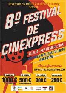 El ''VIII Festival de Cinexpress'' se celebrará los próximos 14, 15 y 16 de Septiembre